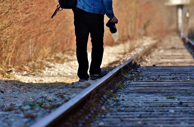 Ground Rail, Shut Down, Photograph, Man, Go, Rails
