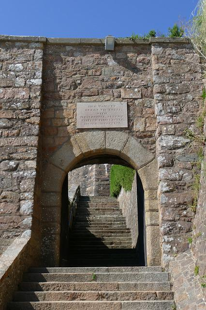 Jersey, Castle, Orgueil, Goal, Stairs, Island Of Jersey