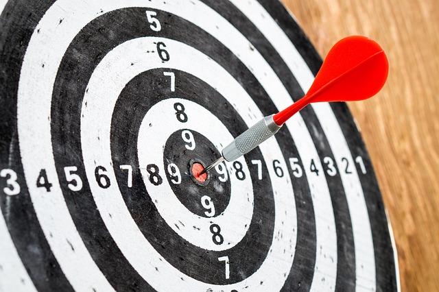 Target, Goal, Success, Dart Board, Darts, Accuracy