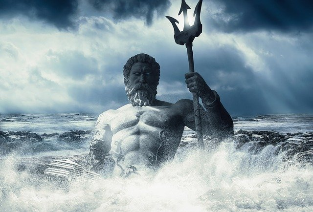 Poseidon, Sea, Wallpaper, Art, Imagination, God, Ocean