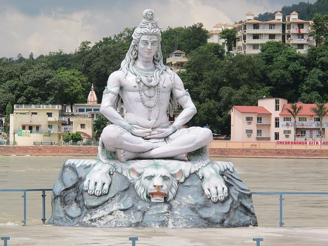 India, Rishikesh, Ganges, Shiva, Statue, God, Hindu