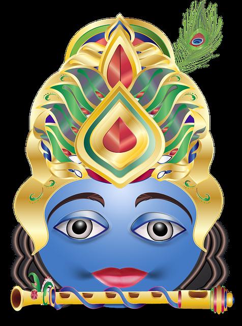 Krishna, Emoticon, Smiley, Hindu, God, India, Nepal