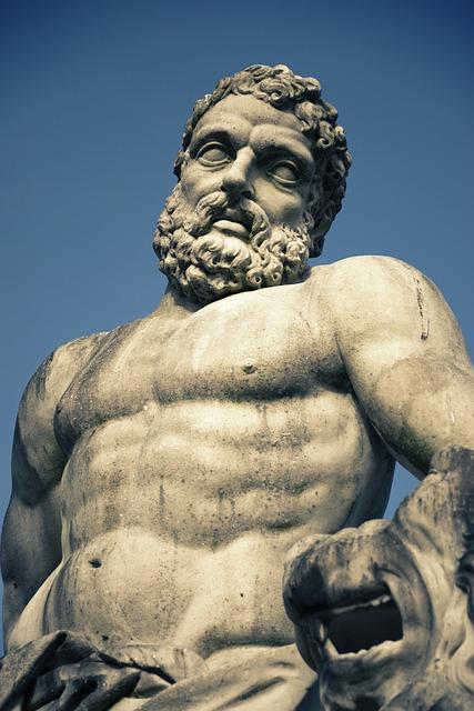 Hercules, Statue, Greek Ancient, God