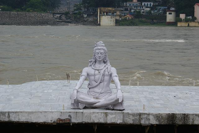 Shiva, Statue, Lord, God, Meditating, Posture, Hinduism