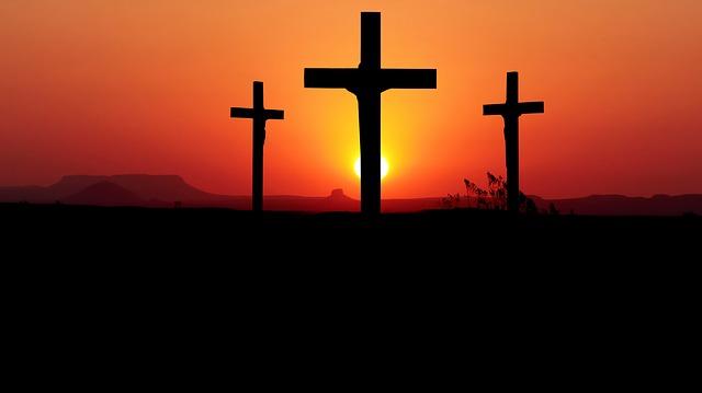 Sunset, Cross, Christianity, God, Sky, Symbol, Light