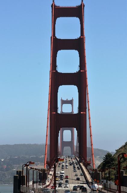 San Francisco, Goden Gate Bridge, Traffic, Bridge