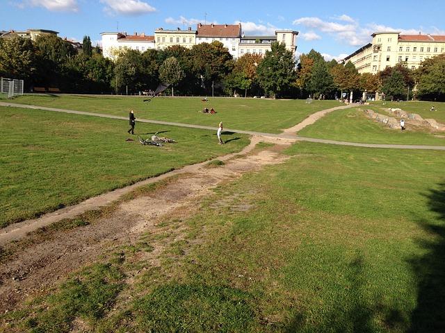 Görlitzer Park, Berlin, Trail, Park
