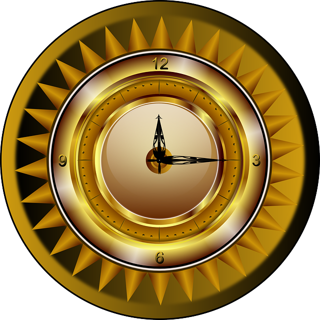 Clock, Gold, Watch, Time, Luxury, Analog, Ticker, Sun