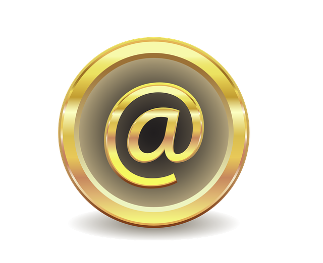 E Mail, Message, Gold, Gradient, Characters, Icon, Mail