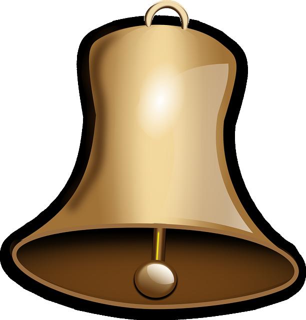 Church Bell, Bell, Gold, Sound, Christmas, Church