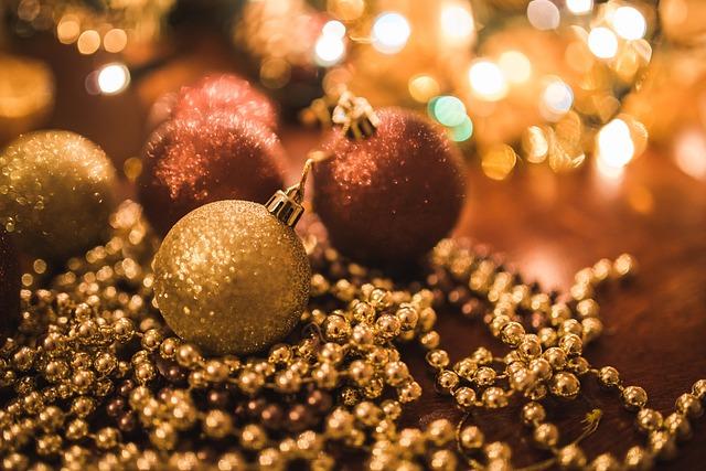 Balls, Christmas, Xmas, Holiday, Holidays, Decor, Gold