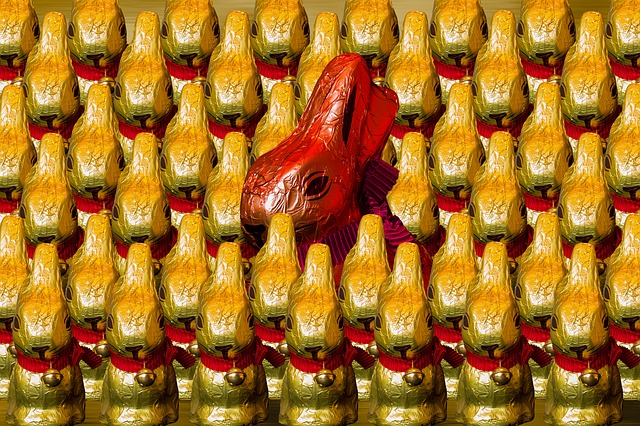 Easter, Easter Bunny, Chocolate, Gold