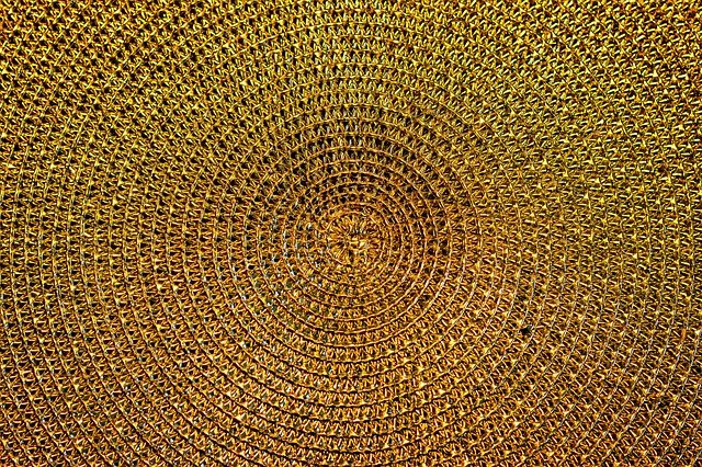 Background, Gold, Pattern, Structure, Golden, Effect