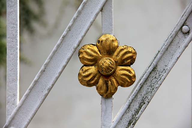 Flower, Gold, Metal