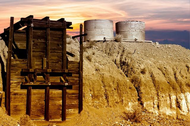 Gold Mine, Desert, Mining, Abandoned, Machinery