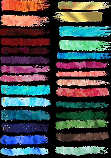 Watercolor Paint Strokes, Gold Paint Stroke, Watercolor