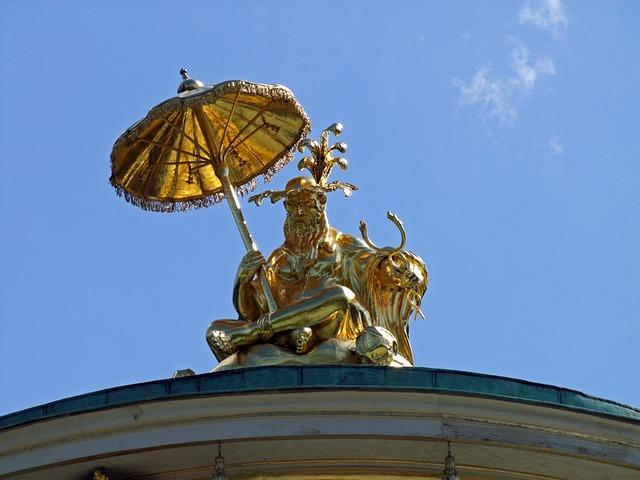 Sculpture, Statue, Fig, Park Sanssouci, Potsdam, Gold