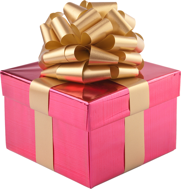 Present, Gift Box, Gold Ribbon, Christmas