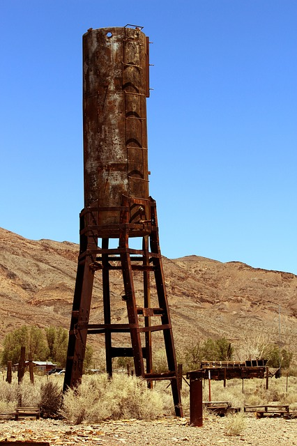 Water Tower, Old West, Ghost Town, Gold Rush