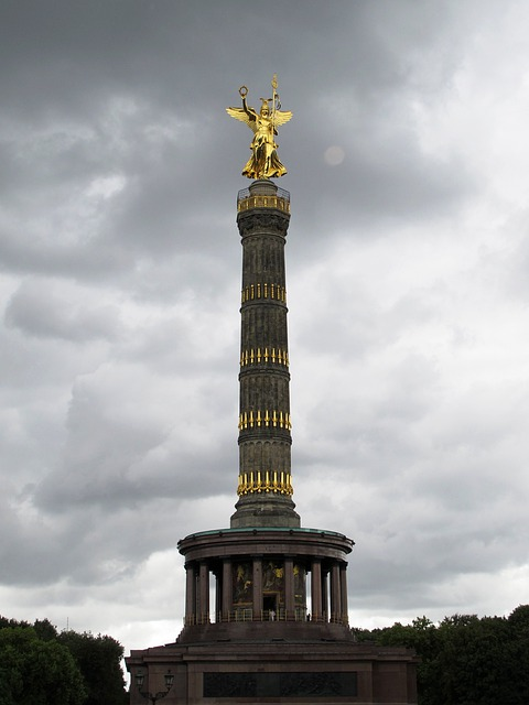 Siegessäule, Berlin, Landmark, Sky, Gold