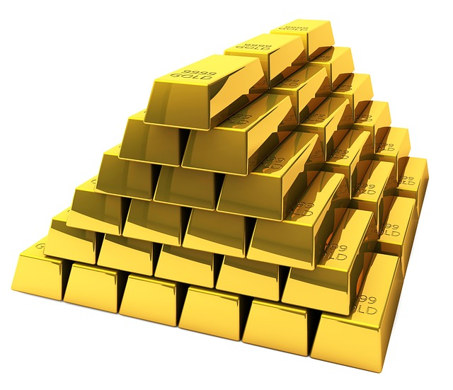 Gold, Bars, Feingold, Bank, Stock Exchange, Insurance