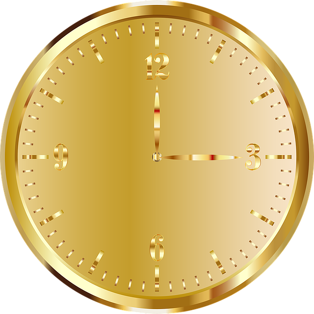 Clock, Golden, Time Indicating, Time Of, Gold, Time