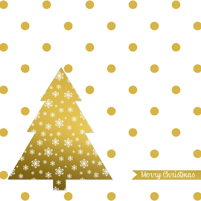 Christmas Card, Christmas, Map, Gold, White