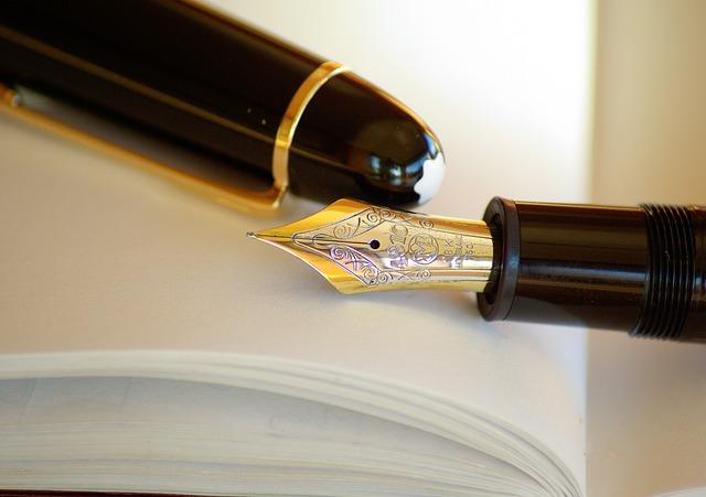 Pen, Fountain Pen, Ink, Gold, Writing