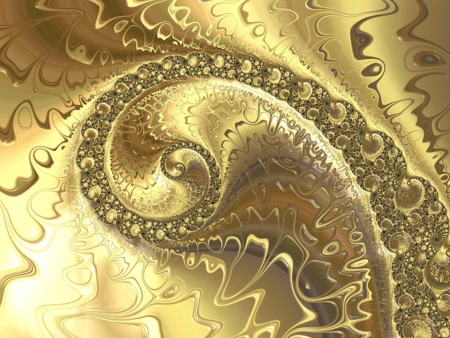 Fractal, Golden, Background, Aesthetic, Abstract