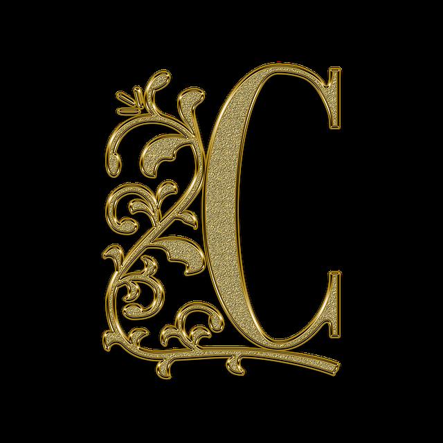 Letter, Font, Golden, Capital Letter, Vintage, Slave