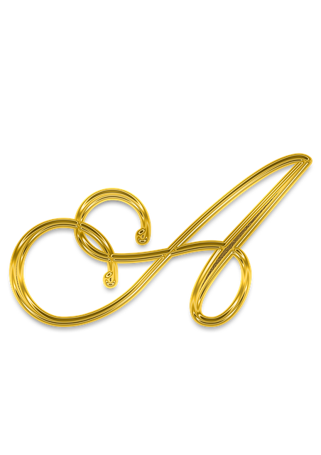 A, Litera, Letter, Gold, Monogram, Decor, Golden
