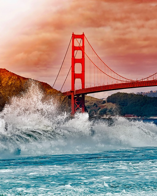 San Francisco, California, Golden Gate Bridge, Bay