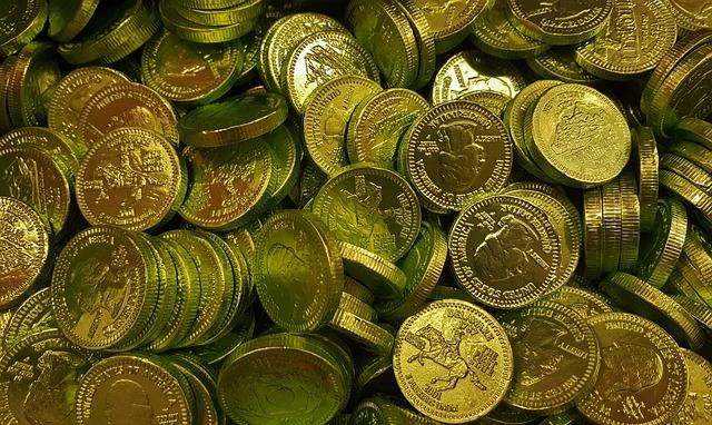 Coins, Gold, Golden, Bounty, Riches, Rich, Treasure