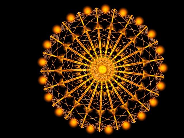 Ornament, Golden, Gold, Palatial, Pattern, Bright