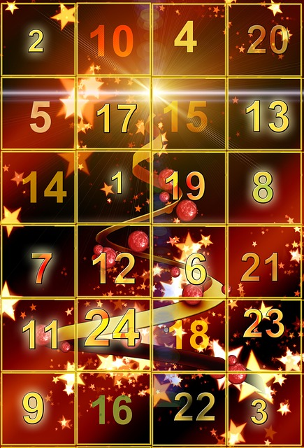 Advent Calendar, Door, Golden, Advent, Pay, Christmas