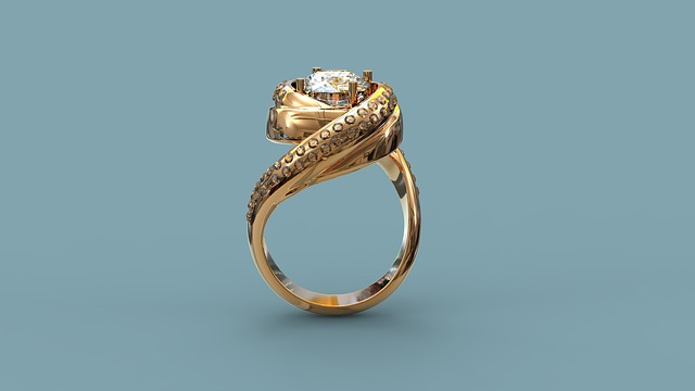 Golden Ring With Stones, Ornament