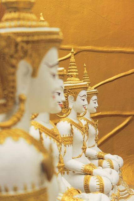 Buddha, Religion, Thailand, Golden Statues