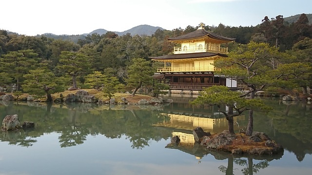 Golden Pavilion, Japan, Kyoto, Temple, Golden, Asian