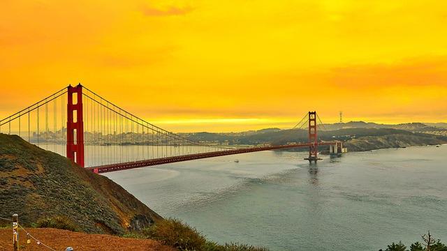 Bridge, Sanfrancisco, Sf, Goldengate, Landscape
