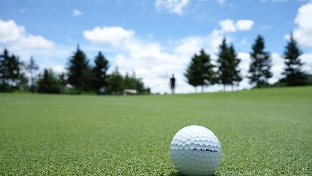 Golf, Ball, Green