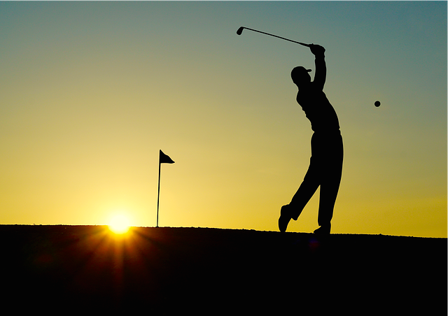 Golf, Sunset, Sport, Golfer, Golf Clubs, Einlochfahne