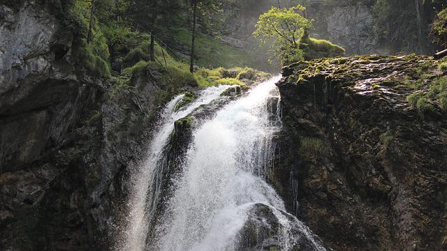Gollinger Waterfall, Golling, Waterfall