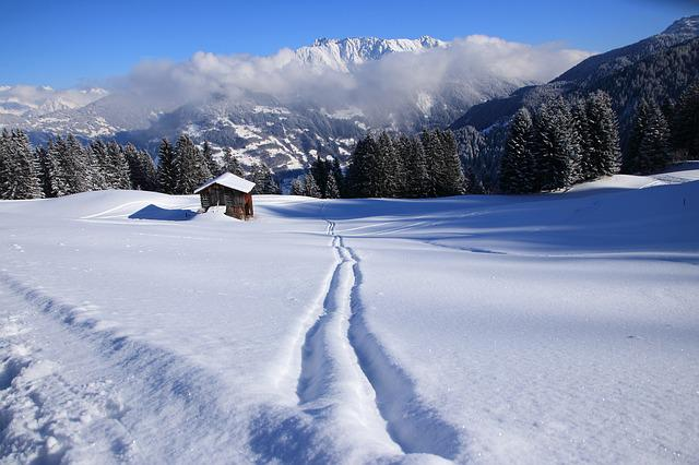 Winter, Golm, Vorarlberg, Montafon, Mountains, View