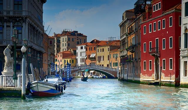 Italy, Venice, Water, Gondola, Architecture, Venezia