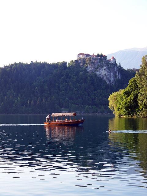Lake Bled, Slovenia, Gondola, Boat, Karawanken, Jumbo