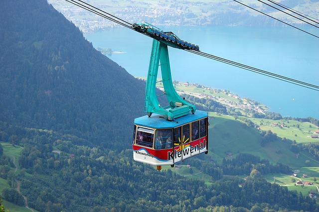 Cable Car, Gondola, Tourists, Klewenalp