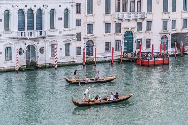Venice, Italy, Gondola, Outdoor, Scenic, Architecture