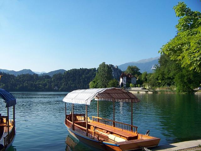 Gondolas, Port, Port Motifs, Lake Bled, Romantic, Dock