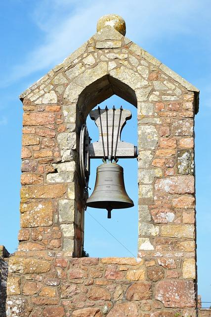 Bell, Mont Orgueil Castle, Gorey, Jersey