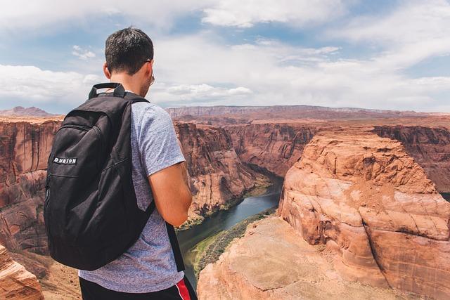 Backpacker, Grand Canyon, Horseshoe Bend, Gorge